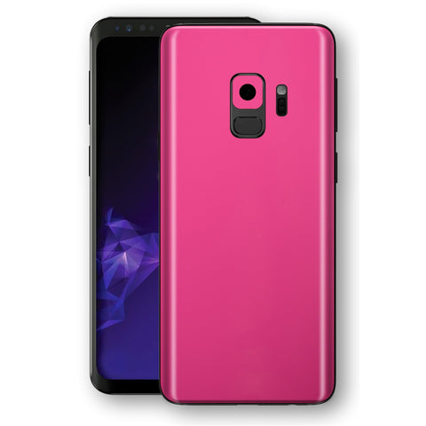 Samsung GALAXY S9 Magenta Glossy Gloss Finish Skin, Decal, Wrap, Protector, Cover by EasySkinz | EasySkinz.com