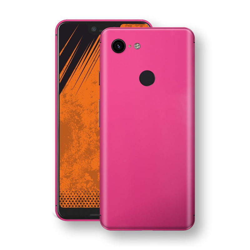 Google Pixel 3 XL Magenta Glossy Gloss Finish Skin, Decal, Wrap, Protector, Cover by EasySkinz | EasySkinz.com