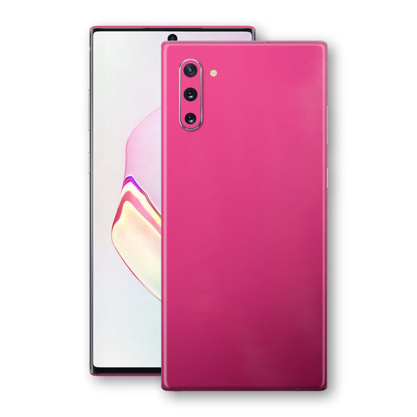Samsung Galaxy NOTE 10 Magenta Glossy Gloss Finish Skin, Decal, Wrap, Protector, Cover by EasySkinz | EasySkinz.com