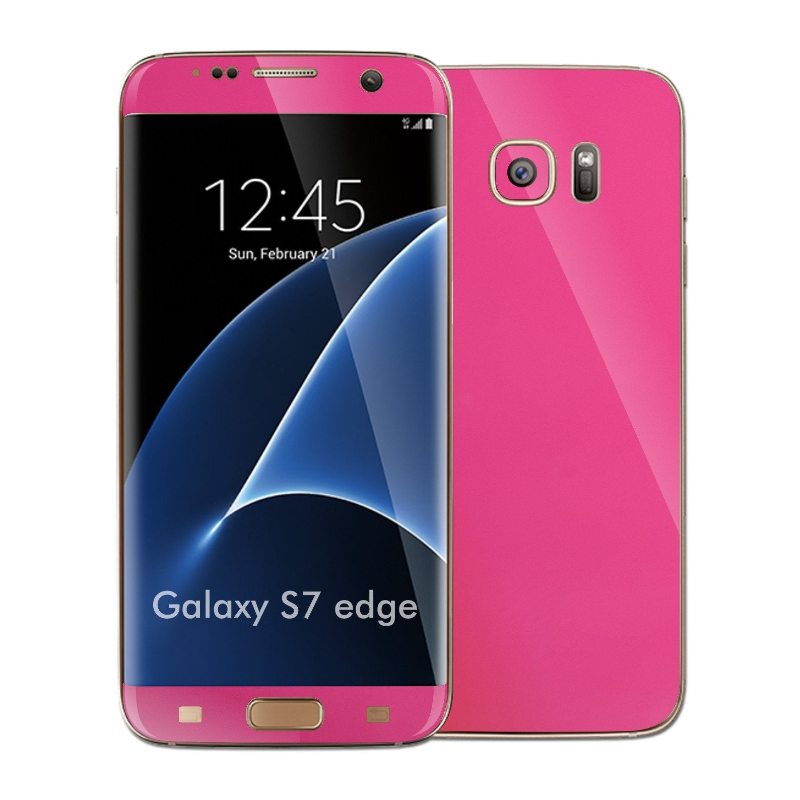 Samsung Galaxy S7 EDGE Glossy Magenta Skin Wrap Decal Sticker Cover Protector by EasySkinz