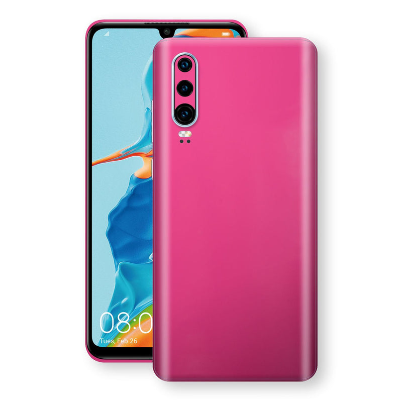 Huawei P30 Magenta Glossy Gloss Finish Skin, Decal, Wrap, Protector, Cover by EasySkinz | EasySkinz.com