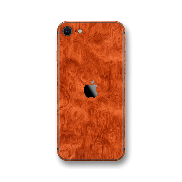 iPhone SE (2020) Mahogany Wood Wooden Skin Wrap Sticker Decal Cover Protector by EasySkinz