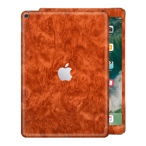 iPad 9.7 inch 2017 Mahogany Wood Wooden Skin Wrap Decal Protector | EasySkinz