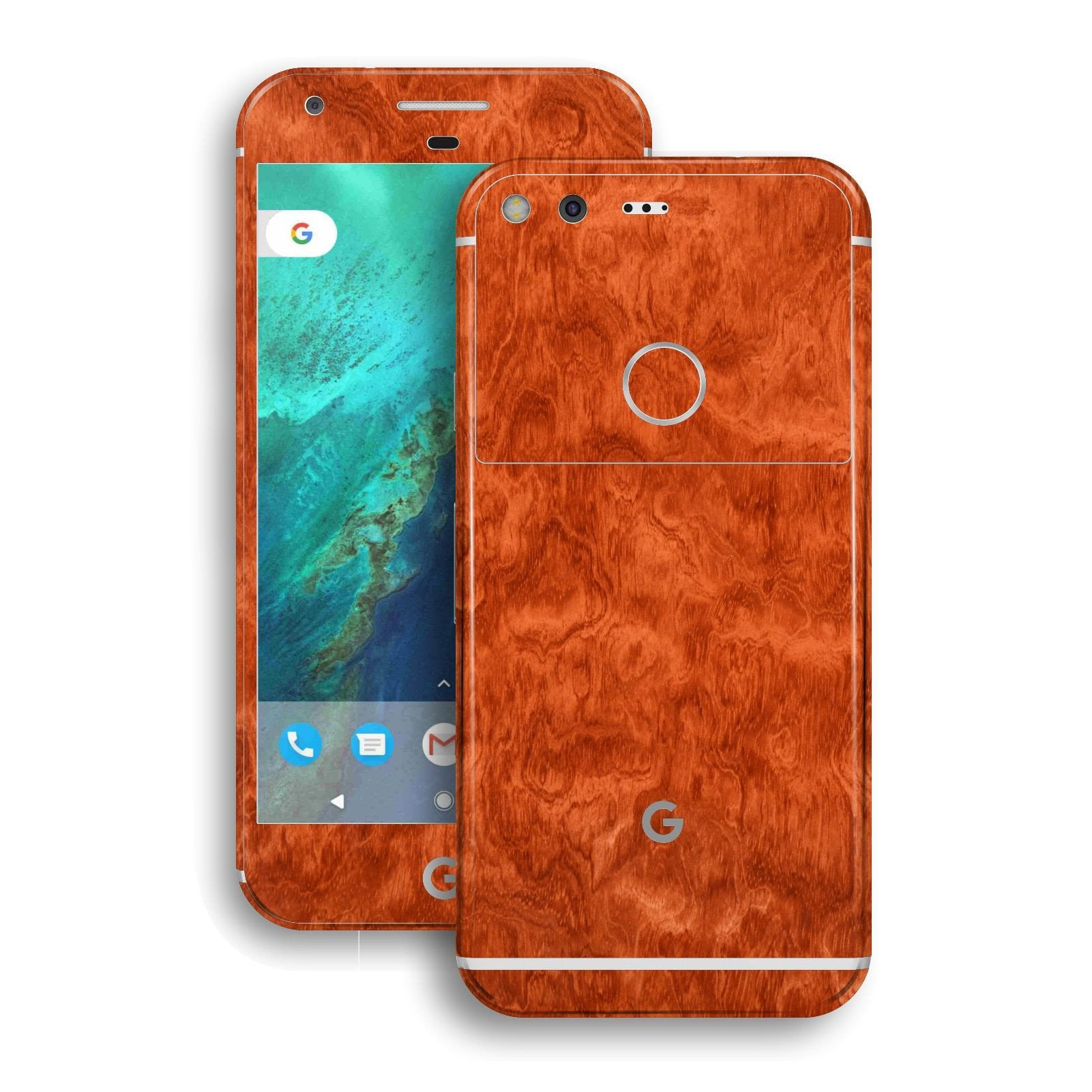 Google Pixel LUXURIA Mahogany Wood Effect Glossy Skin by EasySkinz