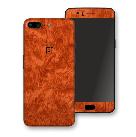 OnePlus 5 Mahogany Wood Wooden Skin Wrap Decal Protector | EasySkinz