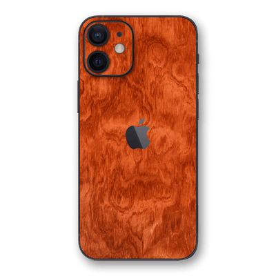 iPhone 12 Mahogany Wood Wooden Skin Wrap Decal Protector | EasySkinz