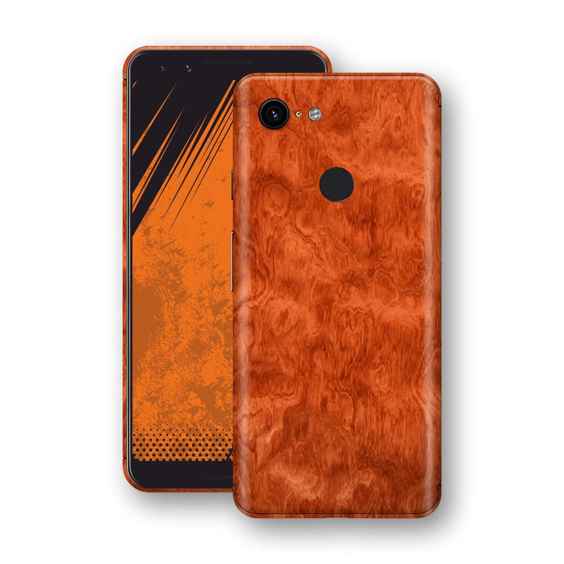 Google Pixel 3 Mahogany Wood Wooden Skin Wrap Decal Protector | EasySkinz