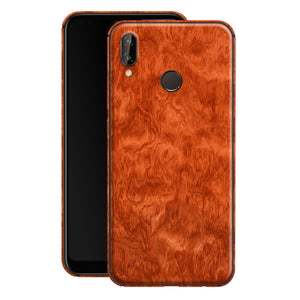 Huawei P20 LITE Mahogany Wood Wooden Skin Wrap Decal Protector | EasySkinz