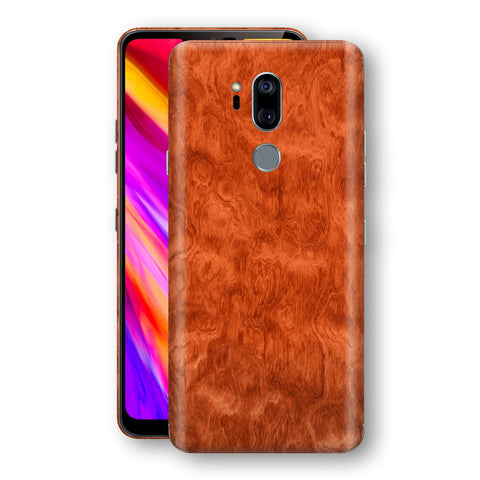 LG G7 ThinQ Mahogany Wood Wooden Skin Wrap Decal Protector | EasySkinz