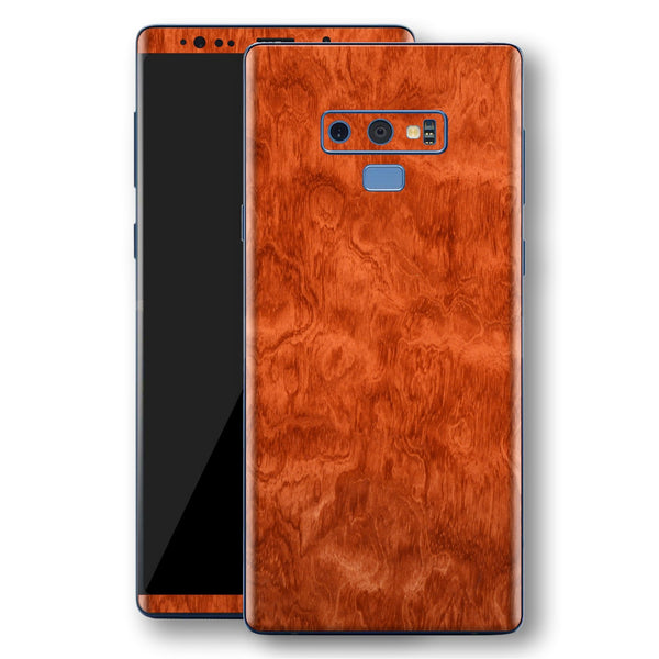 Samsung Galaxy NOTE 9 Mahogany Wood Wooden Skin Wrap Decal Protector | EasySkinz