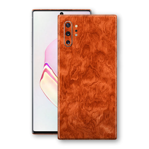 Samsung Galaxy NOTE 10+ PLUS Mahogany Wood Wooden Skin Wrap Decal Protector | EasySkinz