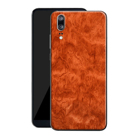 Huawei P20 Mahogany Wood Wooden Skin Wrap Decal Protector | EasySkinz