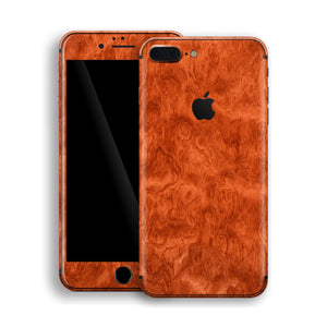 iPhone 8 PLUS Mahogany Wood Wooden Skin Wrap Decal Protector | EasySkinz
