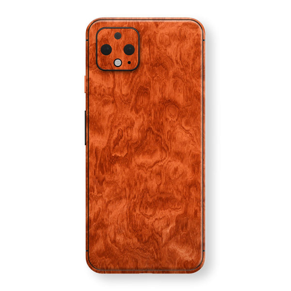 Google Pixel 4 XL Mahogany Wood Wooden Skin Wrap Decal Protector | EasySkinz