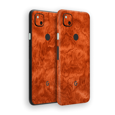 Google Pixel 4a Mahogany Wood Wooden Skin Wrap Sticker Decal Cover Protector by EasySkinz