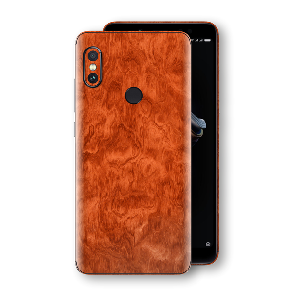 XIAOMI Redmi NOTE 5 Mahogany Wood Wooden Skin Wrap Decal Protector | EasySkinz