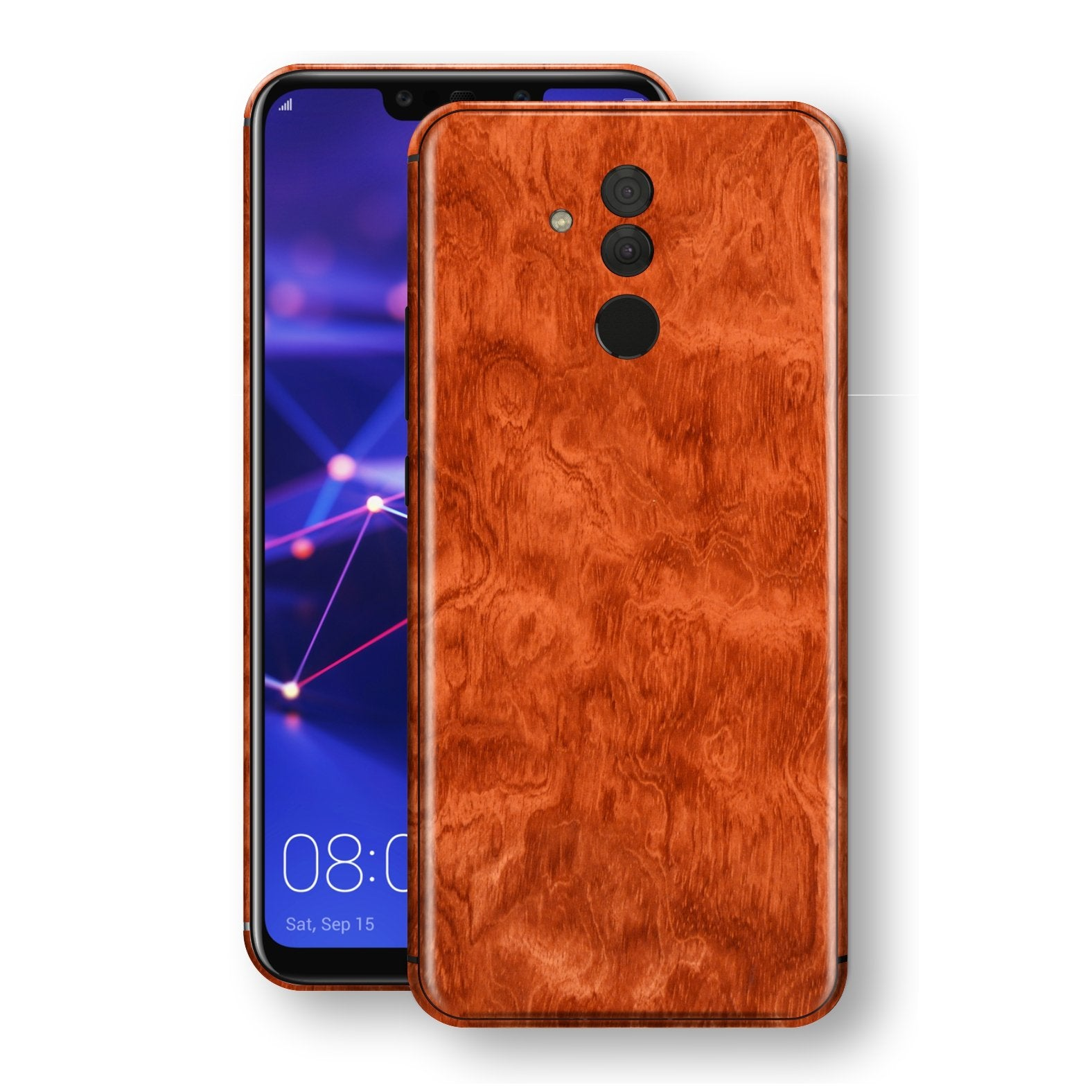 Huawei MATE 20 LITE Mahogany Wood Wooden Skin Wrap Decal Protector | EasySkinz
