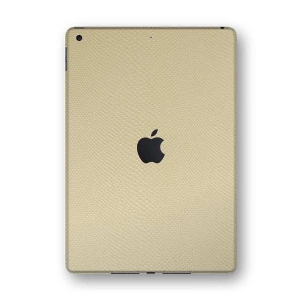 "iPad 10.2"" (7th Gen, 2019) Beige Mamba Snake Leather Skin Wrap Sticker Decal Cover Protector by EasySkinz"