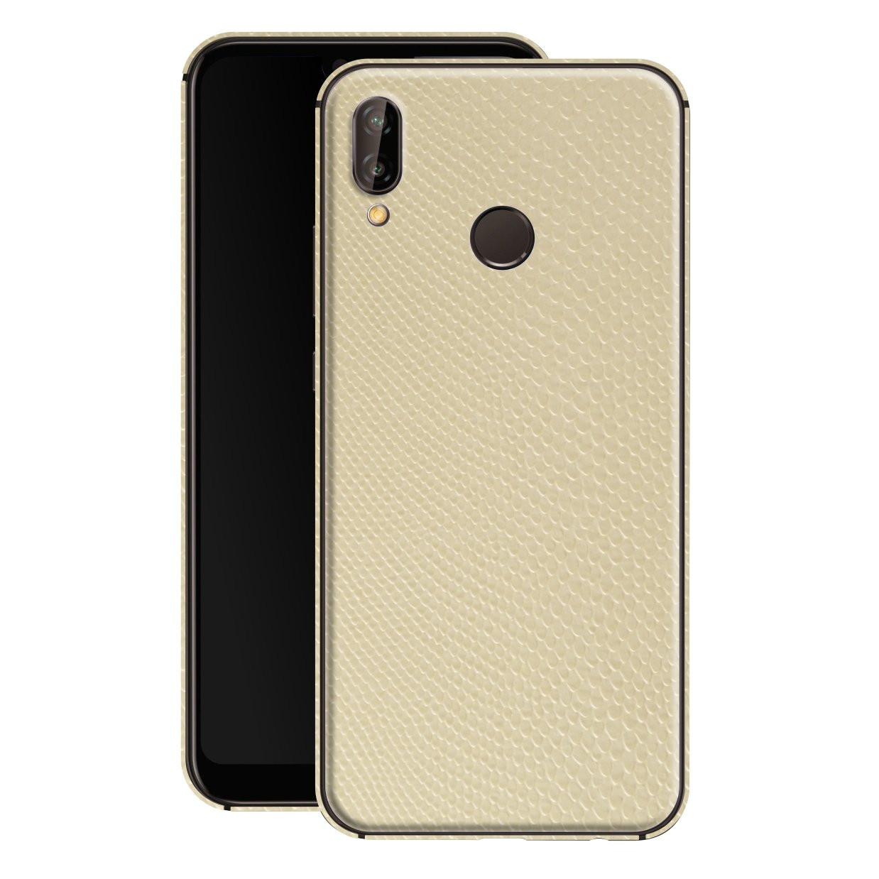 Huawei P20 LITE Beige Mamba Snake Leather Skin, Decal, Wrap, Protector, Cover by EasySkinz | EasySkinz.com