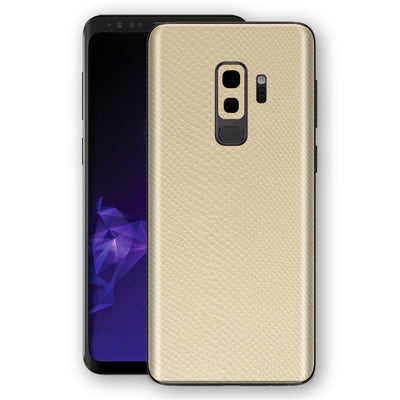 Samsung GALAXY S9+ PLUS Beige Mamba Snake Leather Skin, Decal, Wrap, Protector, Cover by EasySkinz | EasySkinz.com