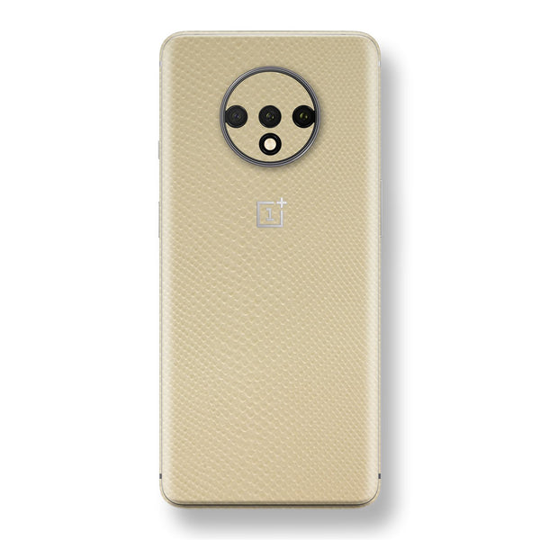 OnePlus 7T Beige Mamba Snake Leather Skin, Decal, Wrap, Protector, Cover by EasySkinz | EasySkinz.com