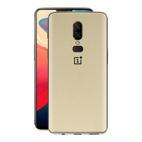 OnePlus 6 Beige Mamba Snake Leather Skin, Decal, Wrap, Protector, Cover by EasySkinz | EasySkinz.com
