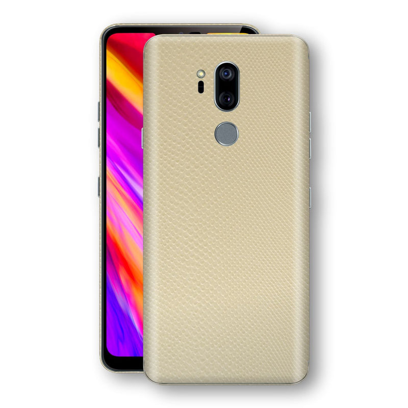 LG G7 ThinQ Beige Mamba Snake Leather Skin, Decal, Wrap, Protector, Cover by EasySkinz | EasySkinz.com
