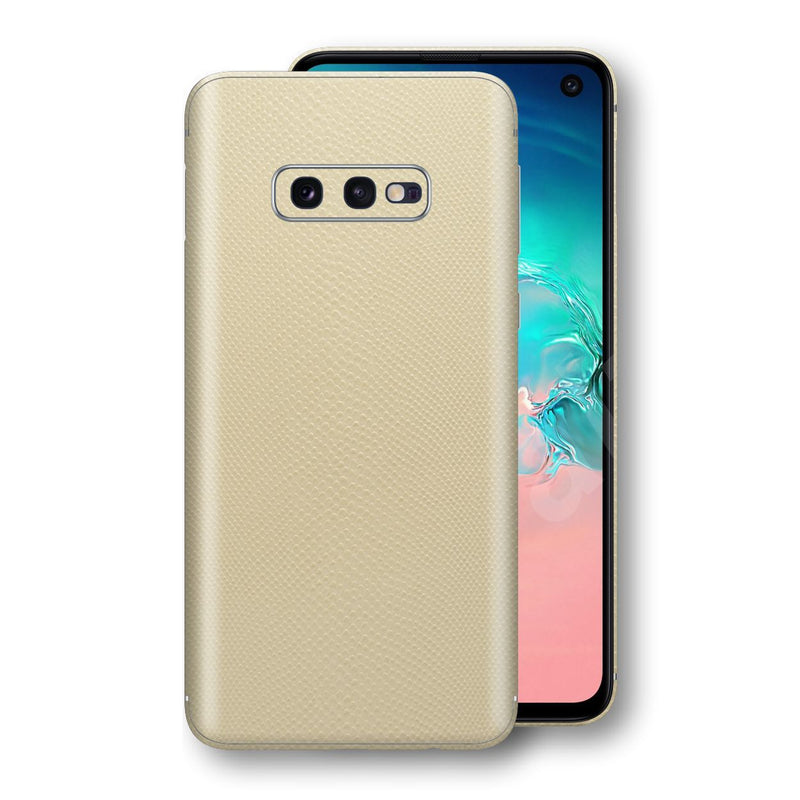 Samsung Galaxy S10e Beige Mamba Snake Leather Skin, Decal, Wrap, Protector, Cover by EasySkinz | EasySkinz.com