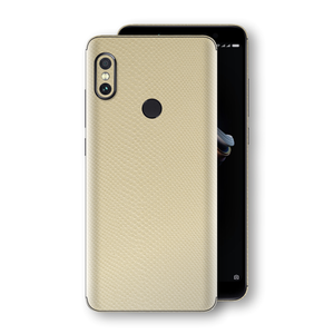 XIAOMI Redmi NOTE 5 Beige Mamba Snake Leather Skin, Decal, Wrap, Protector, Cover by EasySkinz | EasySkinz.com