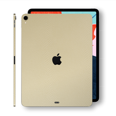 iPad PRO 11 inch 2018 Beige Mamba Snake Leather Skin Wrap Sticker Decal Cover Protector by EasySkinz