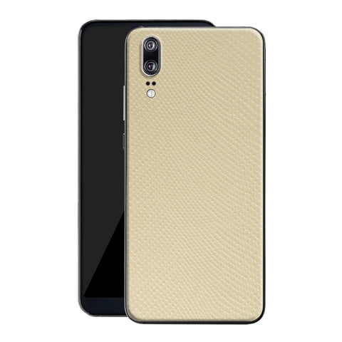 Huawei P20 Beige Mamba Snake Leather Skin, Decal, Wrap, Protector, Cover by EasySkinz | EasySkinz.com