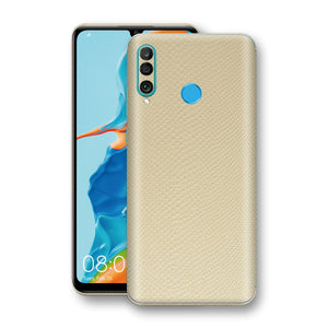 Huawei P30 LITE Beige Mamba Snake Leather Skin, Decal, Wrap, Protector, Cover by EasySkinz | EasySkinz.com