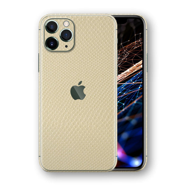 iPhone 11 PRO Beige Leather Mamba Snake Skin, Wrap, Decal, Protector, Cover by EasySkinz | EasySkinz.com