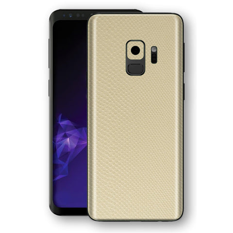 Samsung GALAXY S9 Beige Mamba Snake Leather Skin, Decal, Wrap, Protector, Cover by EasySkinz | EasySkinz.com