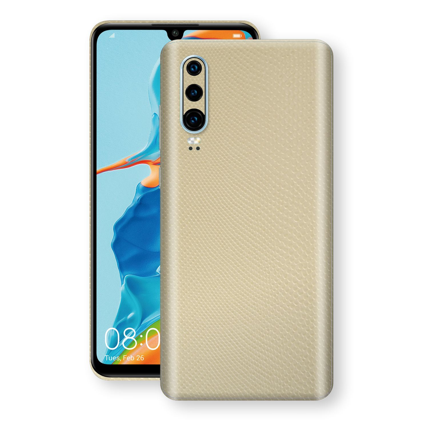 Huawei P30 Beige Mamba Snake Leather Skin, Decal, Wrap, Protector, Cover by EasySkinz | EasySkinz.com