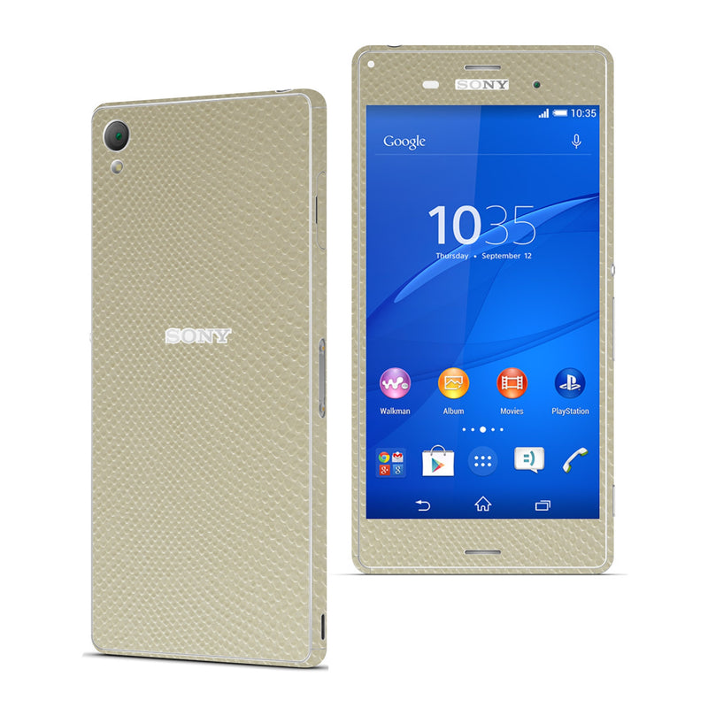 Sony Xperia Z3 Beige MAMBA Snake Effect Skin Wrap Sticker Cover Decal Protector. By EasySkinz.