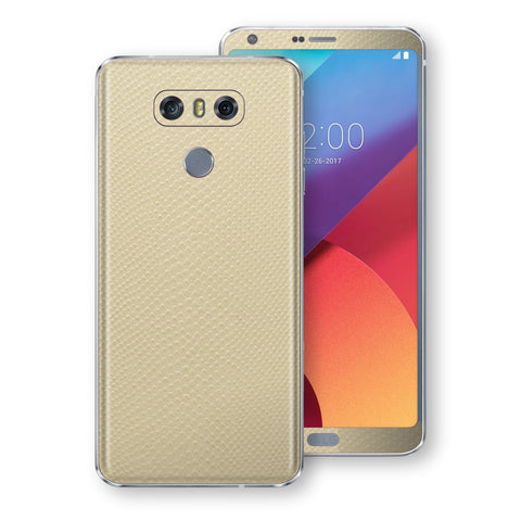 LG G6 Beige Mamba Snake Leather Skin, Decal, Wrap, Protector, Cover by EasySkinz | EasySkinz.com