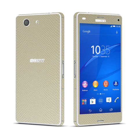 Sony Xperia Z3 COMPACT Beige Mamba Snake Effect Skin Wrap Sticker Cover Decal Protector. By EasySkinz.