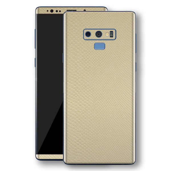 Samsung Galaxy NOTE 9 Beige Mamba Snake Leather Skin, Decal, Wrap, Protector, Cover by EasySkinz | EasySkinz.com