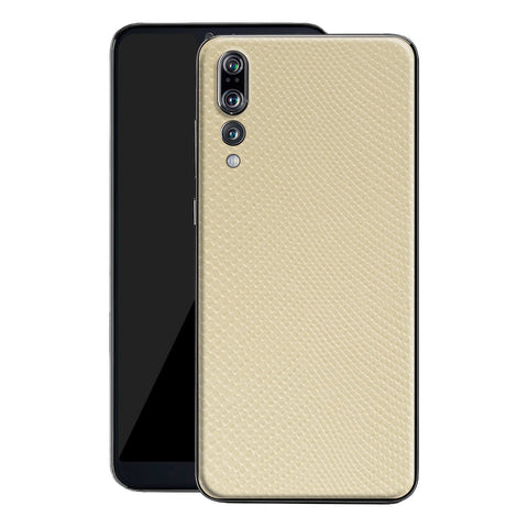 Huawei P20 PRO Beige Mamba Snake Leather Skin, Decal, Wrap, Protector, Cover by EasySkinz | EasySkinz.com