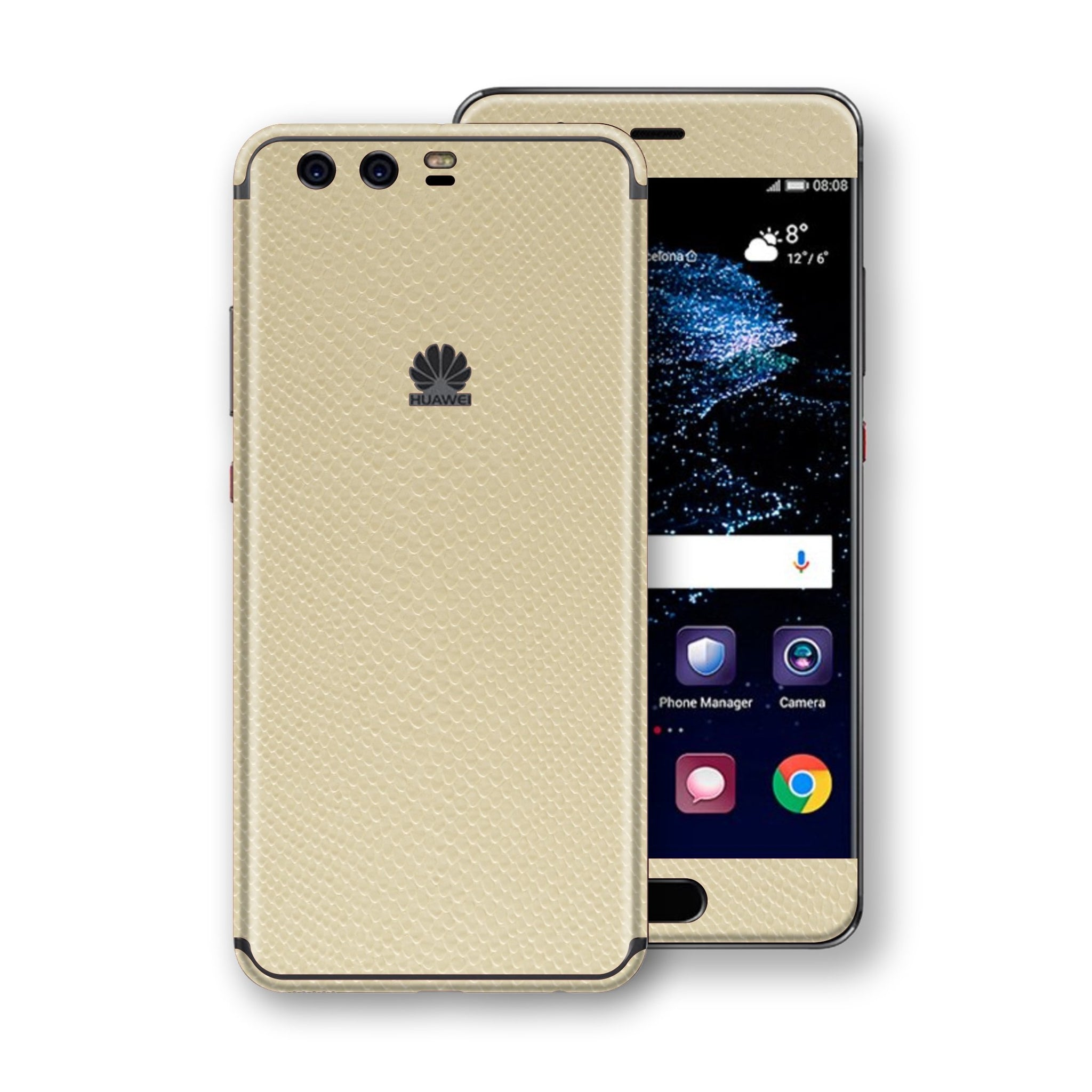 Huawei P10+ PLUS  Beige Mamba Snake Leather Skin, Decal, Wrap, Protector, Cover by EasySkinz | EasySkinz.com
