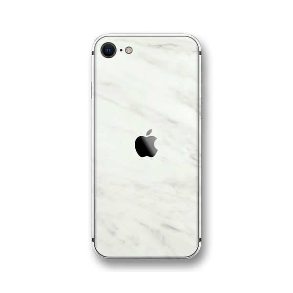 iPhone SE (2020) Luxuria White Marble Skin Wrap Sticker Decal Cover Protector by EasySkinz