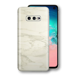 Samsung Galaxy S10e Luxuria White Marble Skin Wrap Decal Protector | EasySkinz