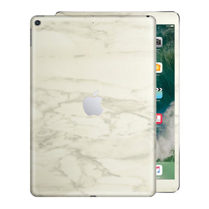 iPad 9.7 inch 2017 Luxuria White Marble Skin Wrap Decal Protector | EasySkinz