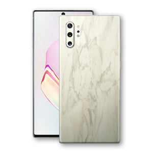 Samsung Galaxy NOTE 10+ PLUS Luxuria White Marble Skin Wrap Decal Protector | EasySkinz