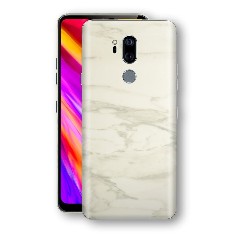 LG G7 ThinQ Luxuria White Marble Skin Wrap Decal Protector | EasySkinz