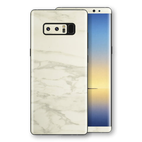 Samsung Galaxy NOTE 8 Luxuria White Marble Skin Wrap Decal Protector | EasySkinz