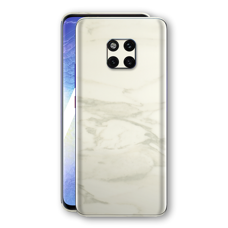 Huawei MATE 20 PRO Luxuria White Marble Skin Wrap Decal Protector | EasySkinz
