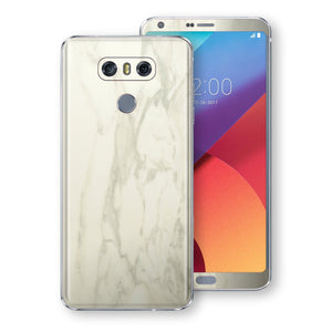 LG G6 Luxuria White Marble Skin Wrap Decal Protector | EasySkinz