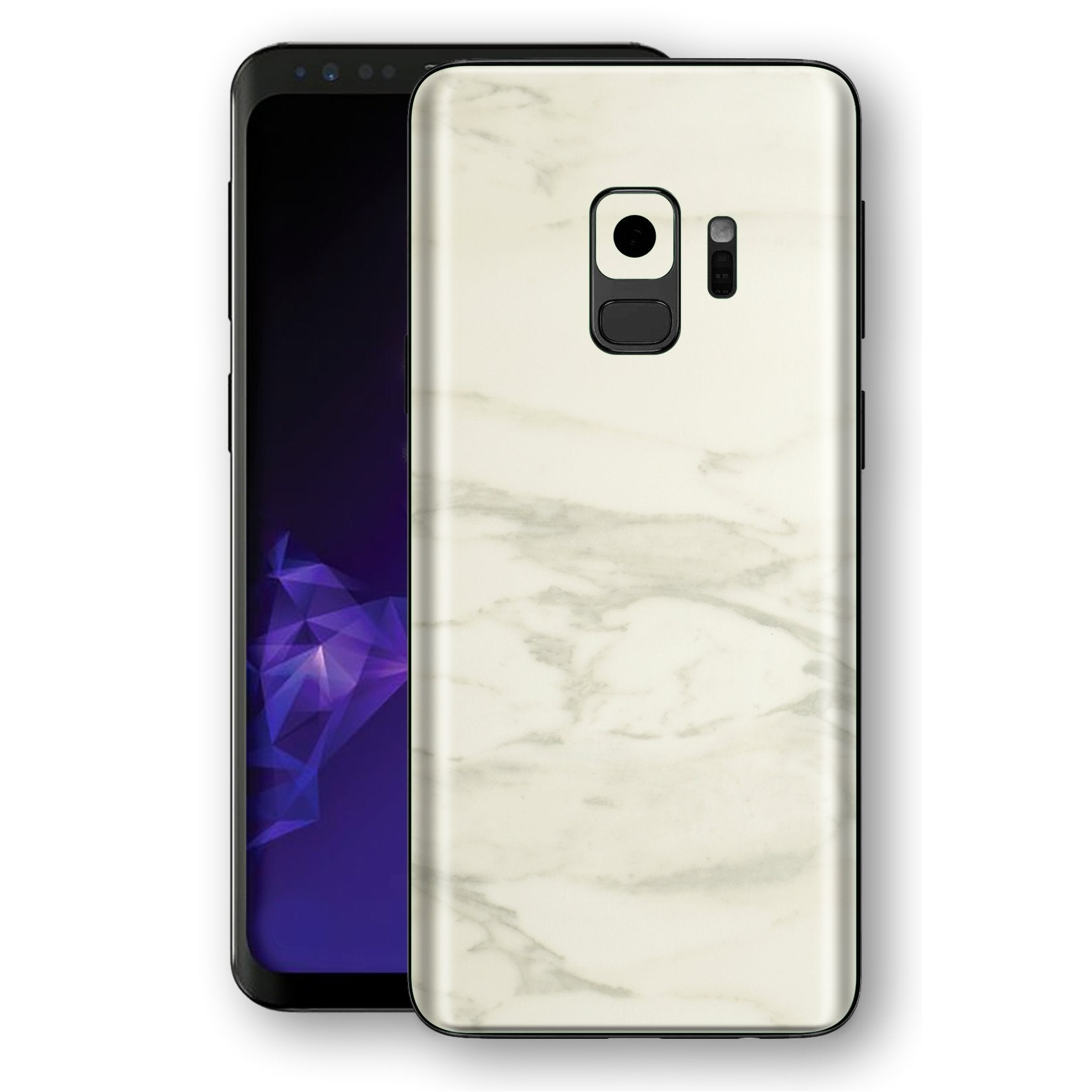 Samsung GALAXY S9 Luxuria White Marble Skin Wrap Decal Protector | EasySkinz